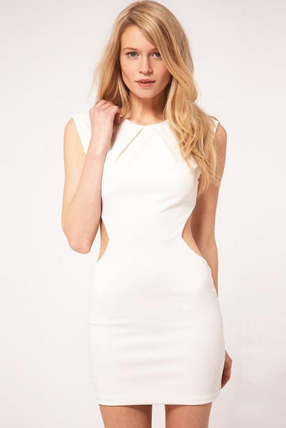 Chicloth Cut-out Cap sleeve Mini Dress - Chicloth