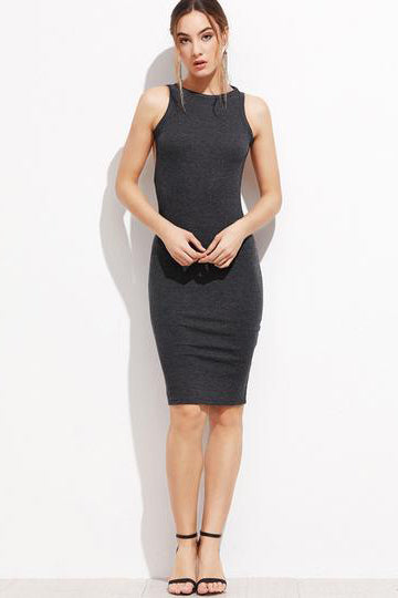 Chicloth Backless Gray Bodycon Dress - Chicloth