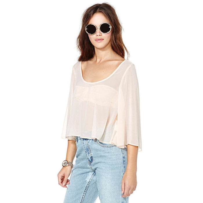 Chicloth Light Pink Low Back Top-Chicloth