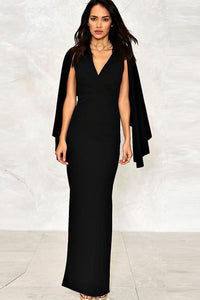 Chicloth shawl Black Dress - Chicloth