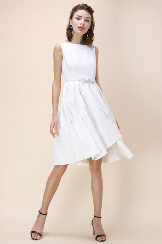 Chicloth A-line Little White Dress-Chicloth