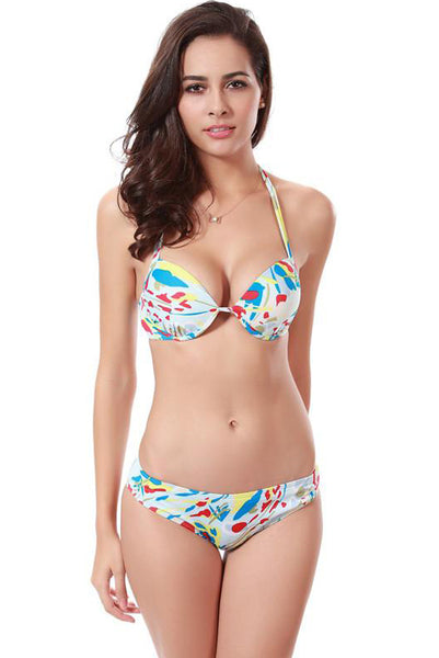 Chicloth All For The Love Of A Girl Floral Bikini Set-swimwear-Chicloth