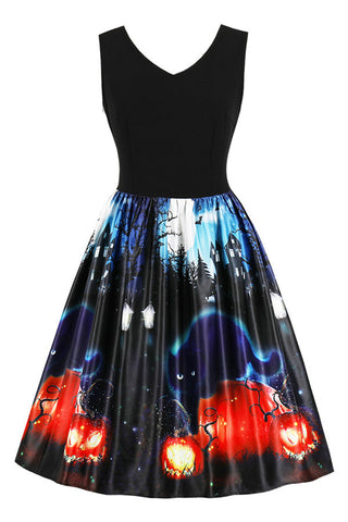 B| Chicloth Halloween Retro Pin Up Dress