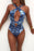 AA| Chicloth Deep V-neck Floral Printing Halter Bikini Set-Chicloth