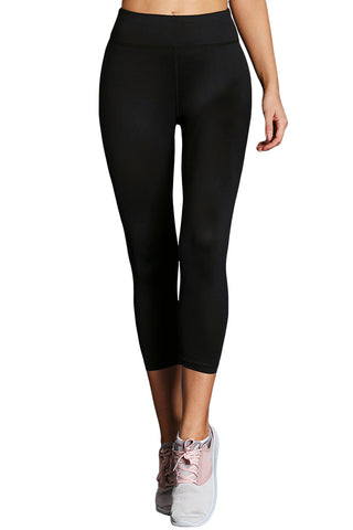 Z| Chicloth Black High Waist Full Length Leggings-Leggings-Chicloth