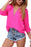 A| Chicloth Solid Casual Chiffon V-Neckline Long Sleeve Blouses-Chicloth