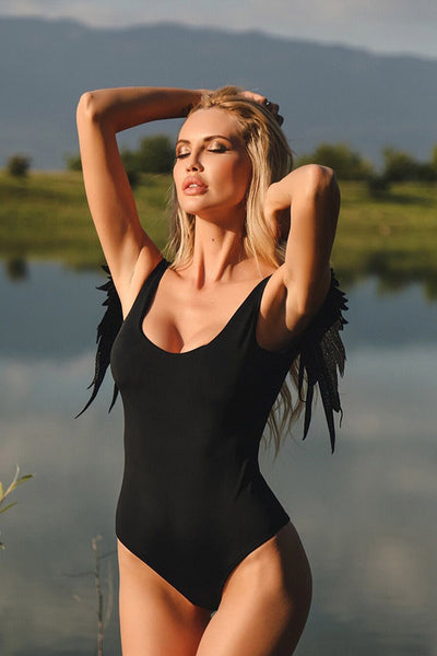 AA| Chicloth Bird Wings Design Women Swimsuit One Pieces