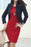 A| Chicloth Solid Long Sleeve Sheath Dress-Chicloth
