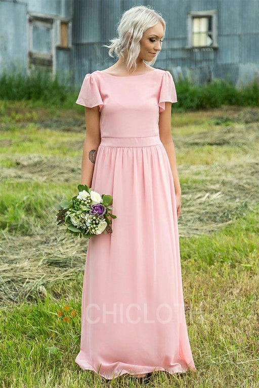 Chicloth  A-Line Maid Of Honor Bridesmaid Dresses