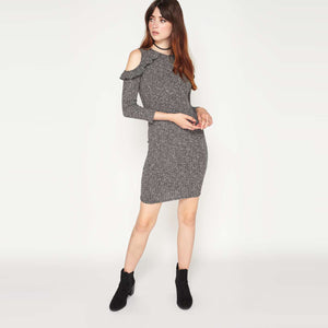 Chicloth Bare shoulder Knitted Dress