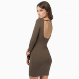 Chicloth Sexy Backless Bodycon Dress