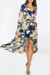 Chicloth High Low Floral Maxi Dress - Chicloth