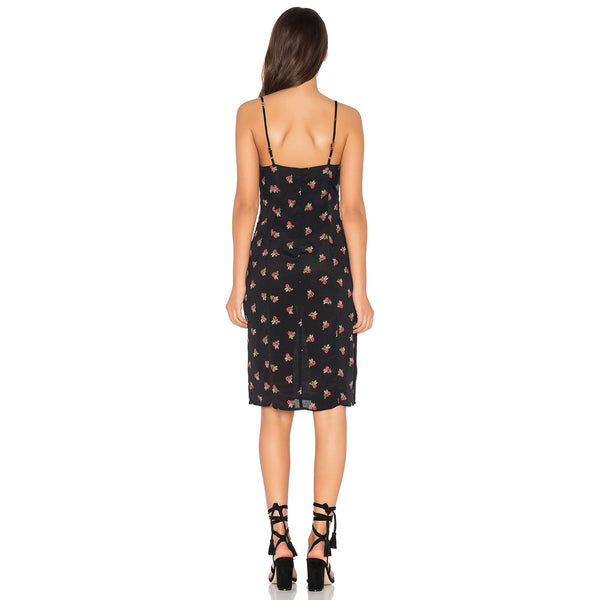 Chicloth Floral Print Harness Dress