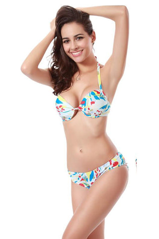 Chicloth All For The Love Of A Girl Floral Bikini Set - Chicloth