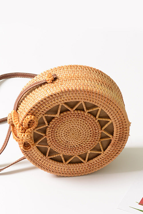 B| Chicloth Handmade Pentagram Hollow Rattan Bags-Rattan Bags-Chicloth