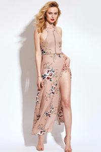 A| Chicloth Back straps Floral Print Dress - Chicloth