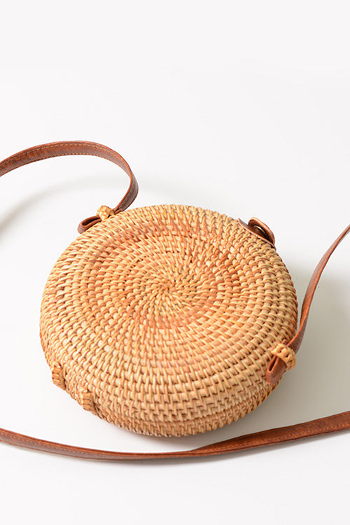 B| Chicloth Handmade Women's Messenger Bag Mini Rattan Bags-Rattan Bags-Chicloth