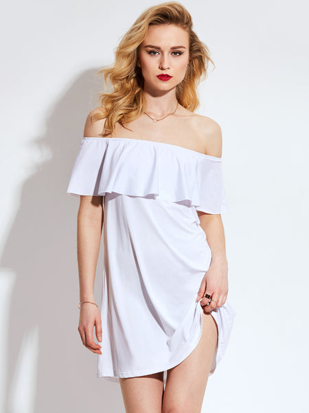Chicloth Off the shoulder White Dress