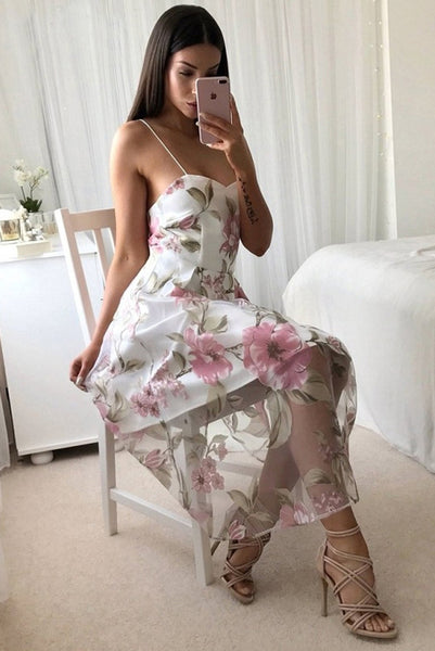 Chicloth Summer Floral Print Casual Sleeveless Women Long Mesh Dress 02