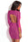 Chicloth Chic Pink Purple Open Back Bodycon Dress-Chicloth