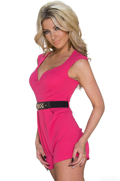 Chicloth Classy Disco Pink Jumpsuit with Waistband