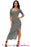Chicloth Charcoal Dusty Ribbed Half Sleeve Maxi Dress-Maxi Dresses-Chicloth