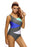 Chicloth Sexy Color Block Front Lace up Gray One Piece Swimsuit-One piece Swimwear-Chicloth