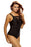 Chicloth Black Slit Ruched Tank Top Tankini Set Swimwear-Tankinis-Chicloth