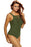 Chicloth Army Green Ruched Tank Top Tankini Set Swimwear-Tankinis-Chicloth