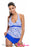 Chicloth Blue Print Halter Tankini and Skort Swimsuit-Tankinis-Chicloth