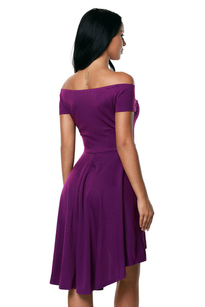 A| Chicloth Purple All The Rage Skater Dress-Casual Dresses-Chicloth