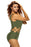 Chicloth Army Green Lace Up Cutout Asymmetric Shoulder Monokini-One piece Swimwear-Chicloth