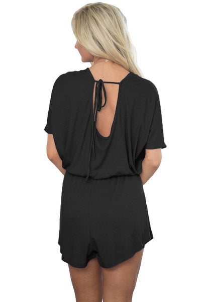 Chicloth Black Dolman Romper