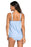 A| Chicloth Light Blue 2Pcs Swing Tankini Swimsuit-Tankinis-Chicloth