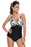 Chicloth Twist Print Cami One piece Swimsuit-One piece Swimwear-Chicloth