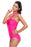 Chicloth Rosy Double Halterneck Ruched One Piece Swimsuit-One piece Swimwear-Chicloth