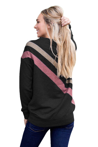Chicloth Black Rays Back Pullover Sweatshirt