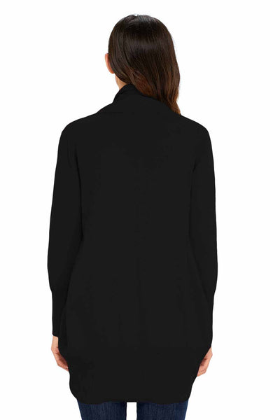 Chicloth Black Super Soft Long Sleeve Open Cardigan