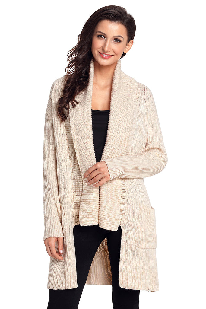 d4123bb6d ... Chicloth Apricot Comfy Cozy Pocketed Cardigan-Sweaters-Chicloth ...