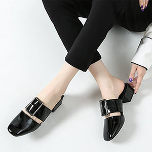 Chicloth Buckle Daily Chunky Slippers