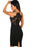 Z| Chicloth Black Eyelash Lace Bodice Bodycon Party Dress-Chicloth