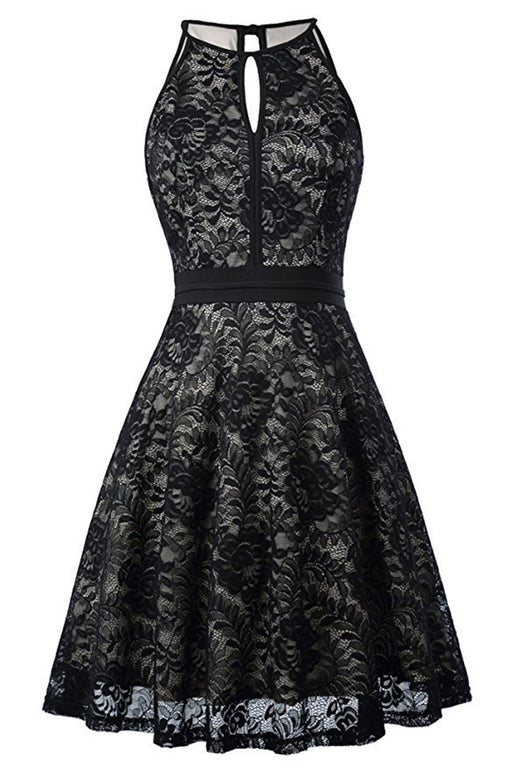 3df8e9160bff AA| Chicloth Women's Halter Floral Lace Cocktail Party Dress Homecoming  Dress(In Stock)