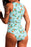 Z| Chicloth Lemon Print Tie Front Cut Out One-piece Swimsuit-Chicloth