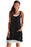 Z| Chicloth Black Lace-Up Pockets Sleeveless Shirt Dress-Chicloth