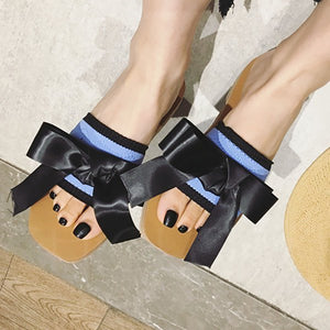 Chicloth Daily Bowknot Summer Open Toe Slippers