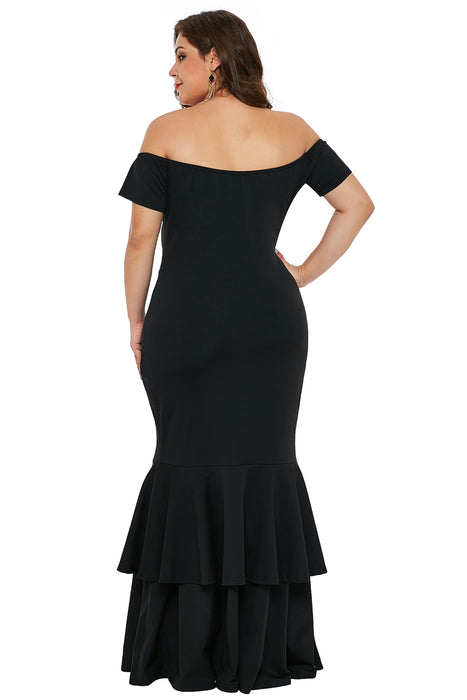 A| Chicloth Black My Everything Plus Size Mermaid Dress-Plus Size Dresses-Chicloth