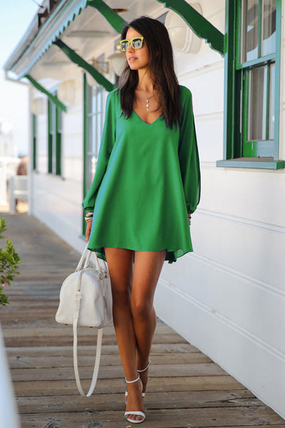 A| Chicloth Chiffon A Line Mini Dress Summer Cover Ups