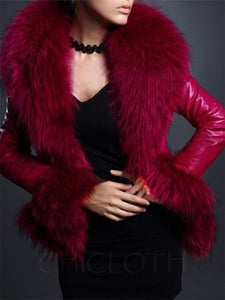 Chicloth Faux Fur Absorbing Overcoat