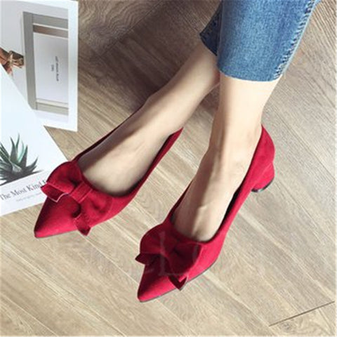 A| Chicloth Bowknot Summer Pointed Toe Flats