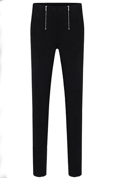 B| Chicloth Women Double Zippers Slim Casual Pencil Pants - Chicloth